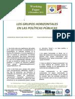 LOS GRUPOS HORIZONTALES EN LAS POLÍTICAS PÚBLICAS - HORIZONTAL GROUPS AND PUBLIC POLICY (Spanish) - TALDE HORIZONTALAK ETA POLITIKA PUBLIKOAK (Espainiera)