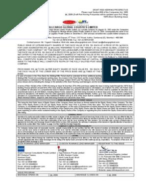 All Cargo Draft | Stocks | Securities (Finance)