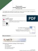 Nouveautés Master Droit du sport-1semestre2011