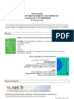 Nouveautés Master Environnement 1er semestre2011