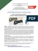 IMechE Flyer for the Composite Material Talk Dec 2011
