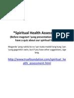 Spiritual Health Draft