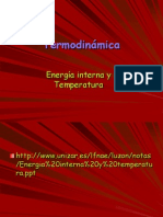 Energia Interna y Temperatura