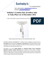 Sotheby's Sale of Fine Jewels to Feature Modern Jewels by Andrew Grima