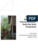 Disaster Risk Reduction and Poverty Alleviation