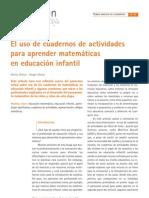 Uso de cuadernos de actividades para aprender matemáticas