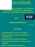 Environmental and Development