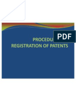 Procedure for Registration of Patents