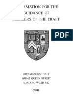 Information for Guidance of Members of Craft