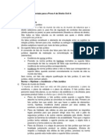 Revisão para a Prova 4 de Direito Civil A
