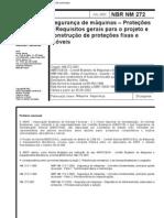 NBR NM 272 - Seguranca de Maquinas - Protecoes - Requisitos Gerais Para o Projeto e Construcao De