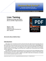 Business Book Review of Lion Taming