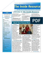 The Inside Resource - Vol 1 Issue 1 - January 2012