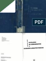 Patología de Cerramientos y Acabados Arquitectónicos [Juan Monjo]