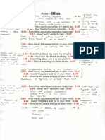 Lyrics Sheet With Deconstruction