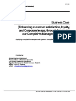 Business Case - Enhancing Customer Satisfaction, Loyalty, And Corporate Image, Through Improving OurCMS