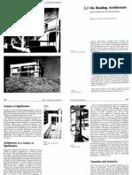 On Reading Architecture Gandelsonas Morton