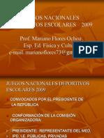 Juegos Nacionales Deportivos Escolares - 2009