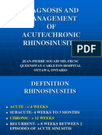 Sinusitis Management.
