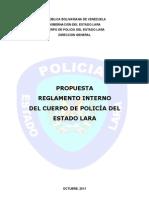 Reglamento Interno del Cuerpo de Policia del estado Lara (propuesta)