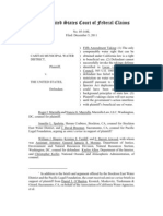 Casitas Municipal Water Dist. v. United States, No. 05-168L (CFC Dec 5 2011)