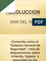 Dipositivs de La Ley 2400 de 1879 Salud Ocupacional