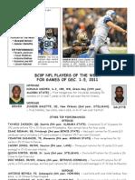 BCSP NFL ProFile - December 6, 2011