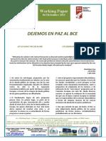 DEJEMOS EN PAZ AL BCE - LET US LEAVE THE ECB ALONE (Spanish) - UTZ DEZAGUN EBZ BAKEAN