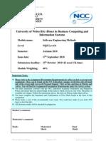 SE Methods Assignment - Autumn 2010