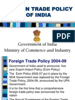 Indian Business Environment Foreign Trade Policy of India