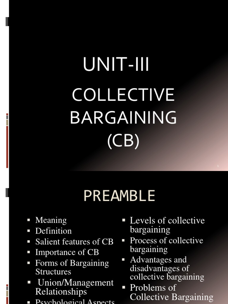 disadvantages of collective bargaining