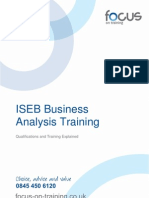 ISEB Business Analysis Training and Qualifications 1.07