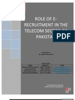 E-Recruitment in Pakistan Telecom Sector - Research Article