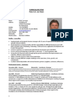 Global Business Director Chemicals in Rotterdam Netherlands Resume CV Peter van Steen