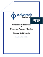 AWR-954GR _Spanish User Manual