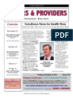 Payers & Providers Midwest Edition – Issue of December 6, 2011