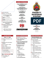 Hamilton Police Priority Response Pamphlet