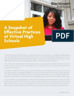 A Snapshot of Effective Practices at Virtual High Schools