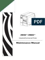 Zebra ZM400-ZM600 Maint Man