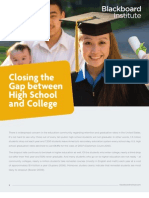 Closing the Gap Between High School and College