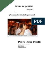 Informe de Gestión Pesatti