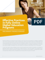 Effective Practices in Fully Online Higher Education Programs