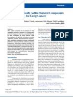 Pharmacologically Active Natural Compounds for Lung Cancer