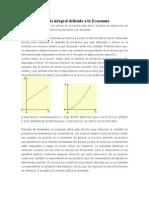 Aplicaciones de la integral definida a la Economía