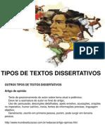 Tipos de Textos Dissertativos 2
