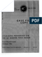 Atlas-Agena Performance for the 1967 Mariner Venus Mission 19690020216_1969020216