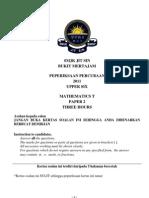 Maths t Paper 2 Jit Sin 2011