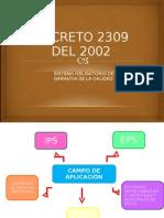Decreto 2309 Del 2002