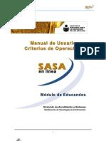 Modulo de Educandos - SASA en Línea