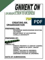 Creating an Organigation